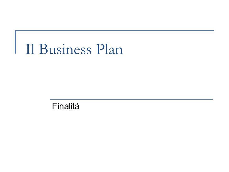Il Business Plan Finalità
