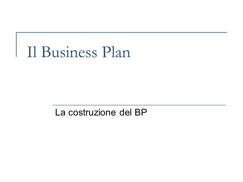 Il Business Plan La costruzione del BP