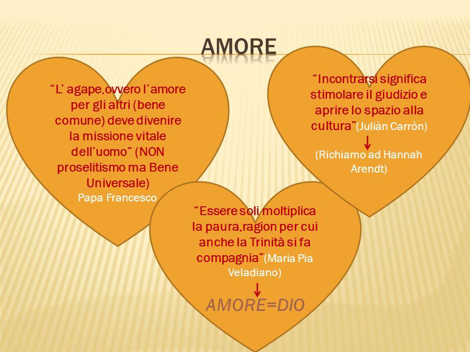 """""""L' agape,ovvero l'amore per gli altri (bene comune) deve divenire la missione vitale dell'uomo"""" (NON proselitismo ma Bene Universale) Papa Francesco"""
