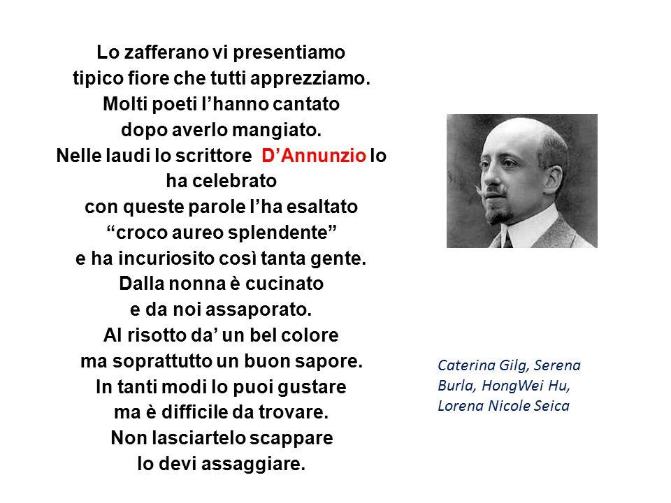 Lo zafferano è un prodotto italiano.lo puoi abbinare facilmente con l ingegno della mente.