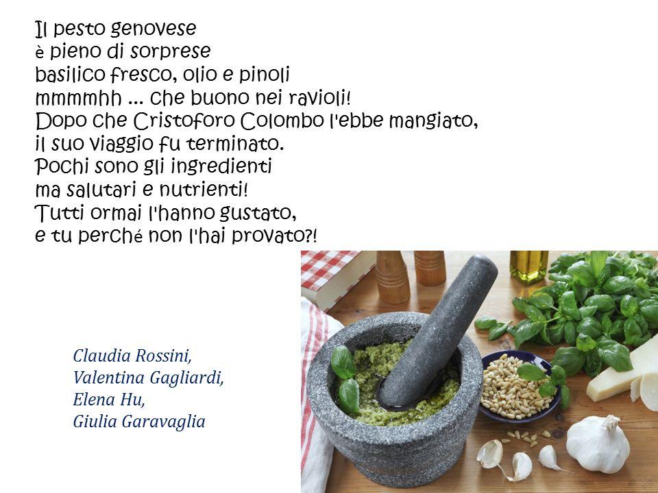 Il pesto genovese è pieno di sorprese basilico fresco, olio e pinoli mmmmhh... che buono nei ravioli! Dopo che Cristoforo Colombo l'ebbe mangiato, il