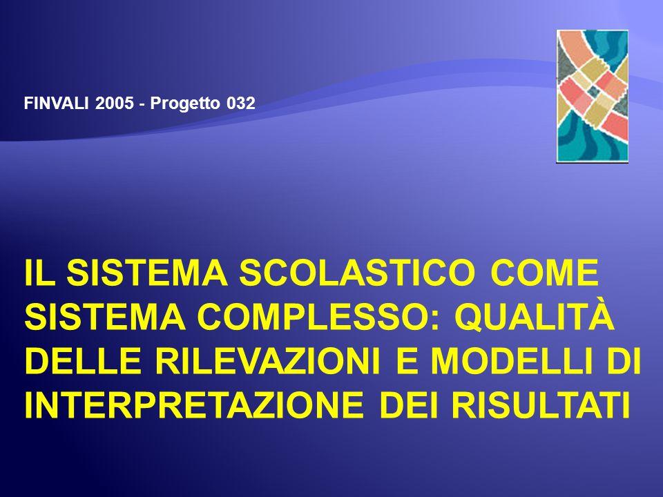 Seminario FINVALI 2005Frascati, 9 luglio 2007- 42 - Tutte le scuole SNV 2004-2005 Non si riscontra un comportamento frattale apprezzabile