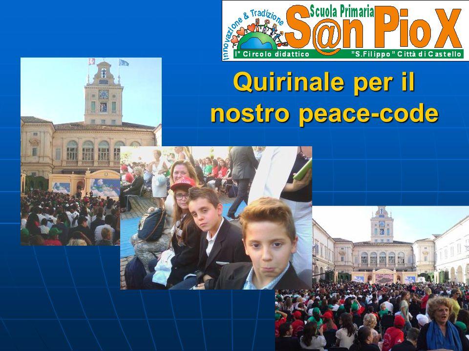 Quirinale per il nostro peace-code