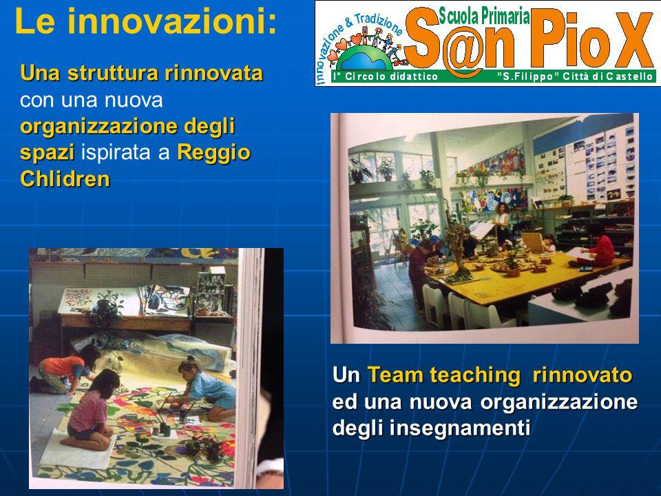 Le innovazioni: Una struttura rinnovata organizzazione degli spazi Reggio Chlidren Una struttura rinnovata con una nuova organizzazione degli spazi is