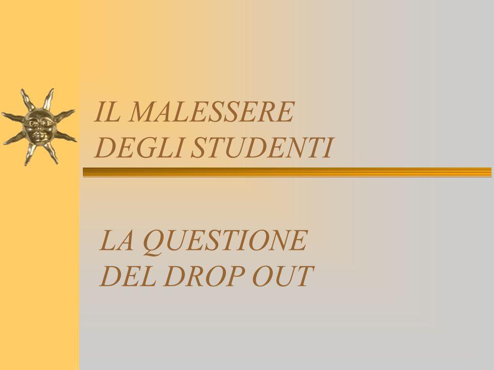 IL MALESSERE DEGLI STUDENTI LA QUESTIONE DEL DROP OUT