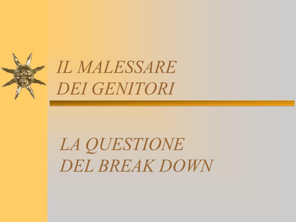 IL MALESSARE DEI GENITORI LA QUESTIONE DEL BREAK DOWN