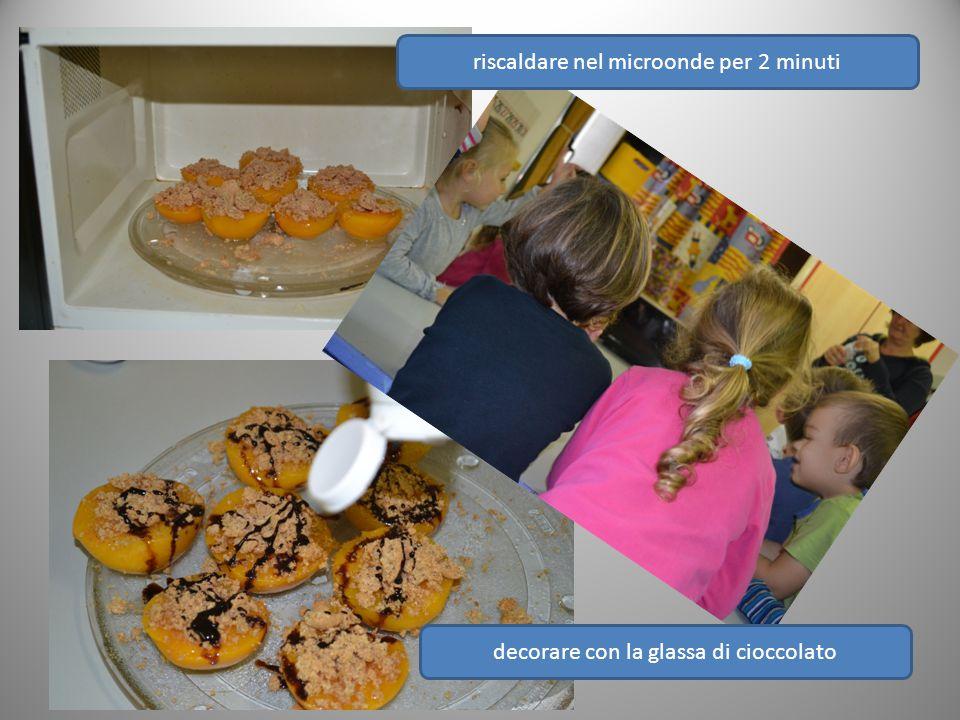 riscaldare nel microonde per 2 minuti decorare con la glassa di cioccolato