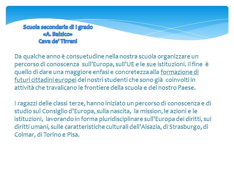 Da qualche anno è consuetudine nella nostra scuola organizzare un percorso di conoscenza sull'Europa, sull'UE e le sue istituzioni.