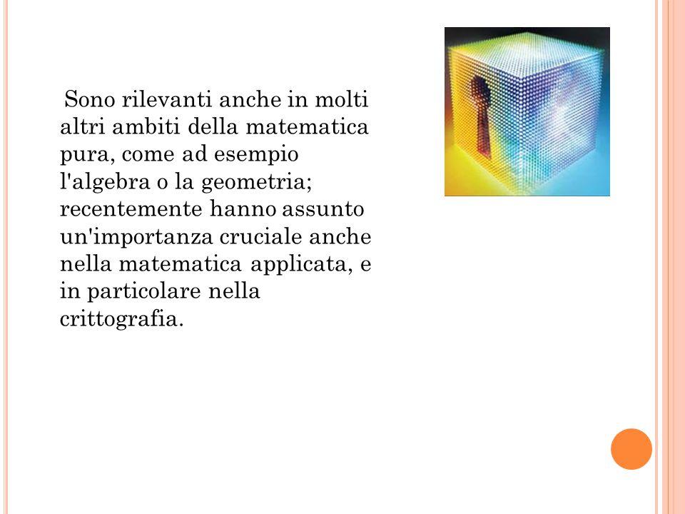 Sono rilevanti anche in molti altri ambiti della matematica pura, come ad esempio l'algebra o la geometria; recentemente hanno assunto un'importanza c