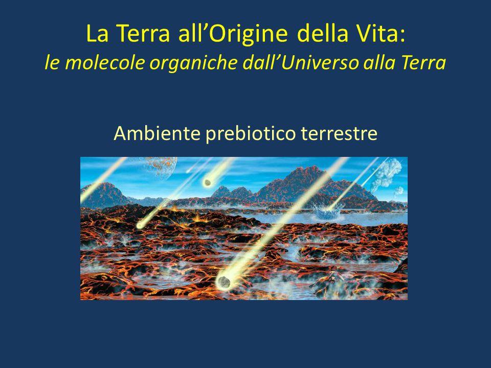 La Terra all'Origine della Vita: le molecole organiche dall'Universo alla Terra Ambiente prebiotico terrestre