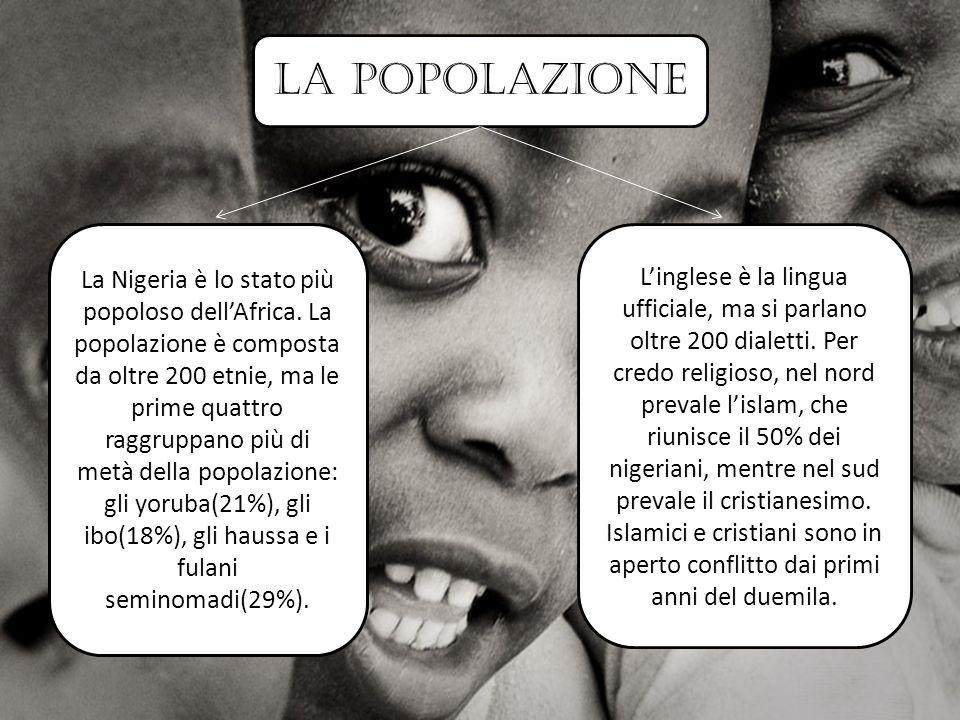 la popolazione La Nigeria è lo stato più popoloso dell'Africa.