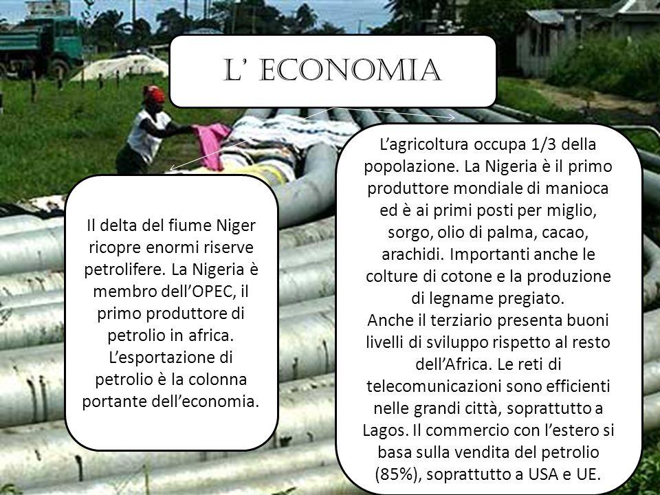 L' economia Il delta del fiume Niger ricopre enormi riserve petrolifere.