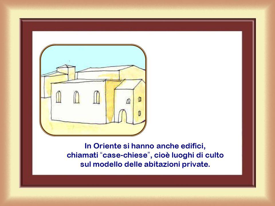 Dopo l'Editto di Costantino (313) si costruiscono i primi luoghi di assemblea cristiani, cioè le prime chiese, secondo il modello della basilica (grande aula rettangolare).