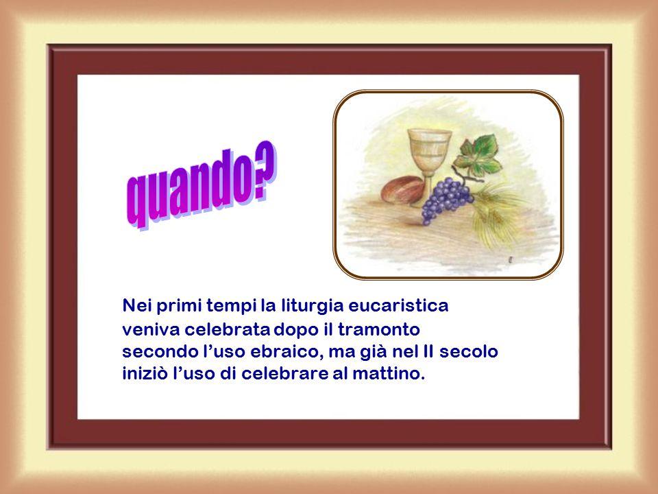La celebrazione eucaristica, tuttavia, può essere celebrata in qualunque luogo: in ospedale, in fabbrica, in campeggio, in prigione, dovunque…