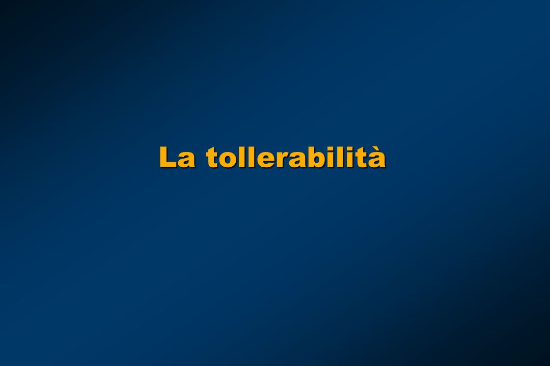 La tollerabilità