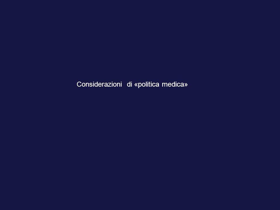 Considerazioni di «politica medica»