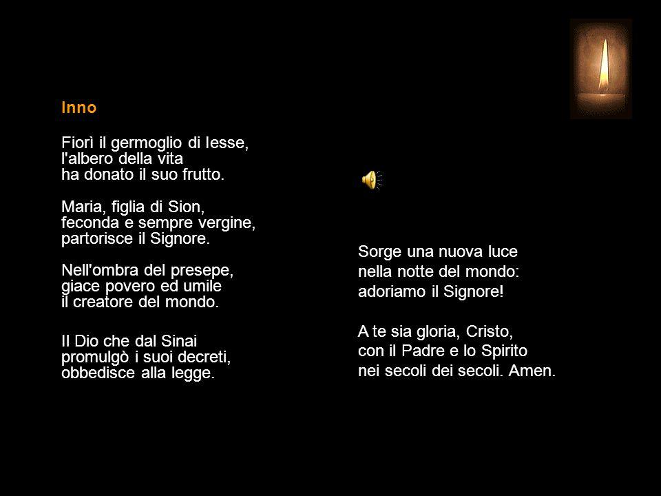 30 DICEMBRE 2014 MARTEDÌ SESTO GIORNO DELL'OTTAVA DI NATALE UFFICIO DELLE LETTURE INVITATORIO V. Signore, apri le mie labbra R. e la mia bocca proclam