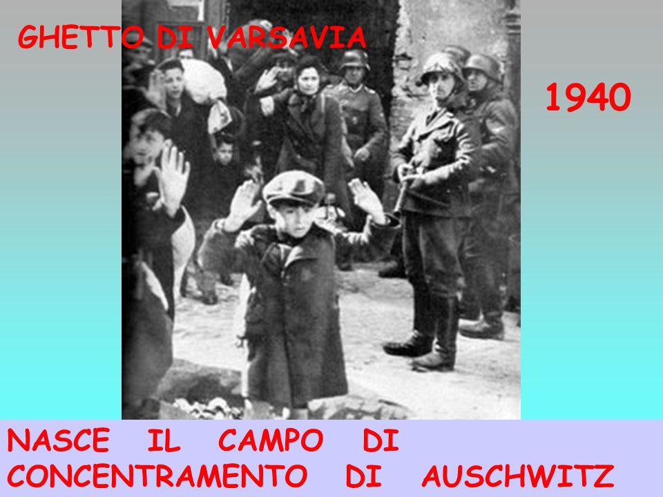 GHETTO DI VARSAVIA 1940 NASCE IL CAMPO DI CONCENTRAMENTO DI AUSCHWITZ