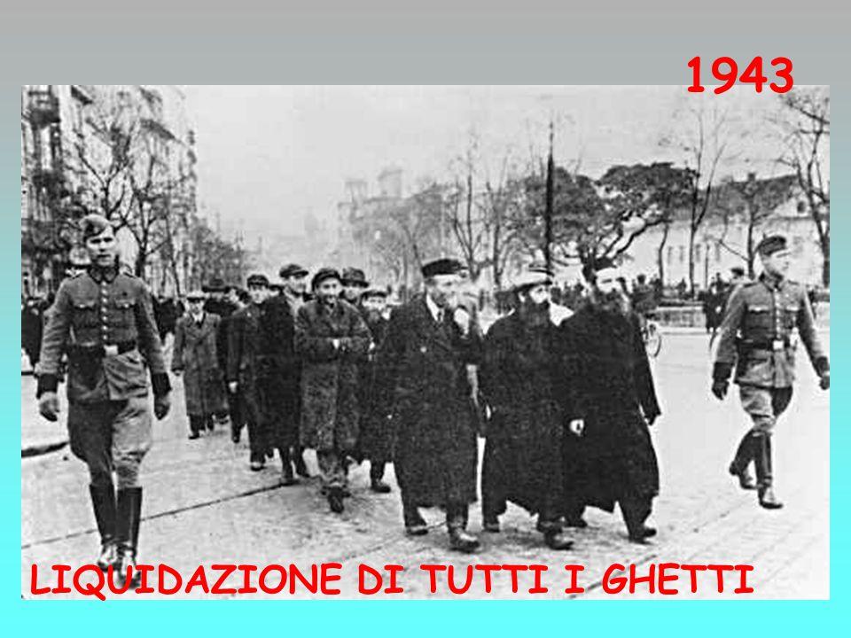 1943 LIQUIDAZIONE DI TUTTI I GHETTI