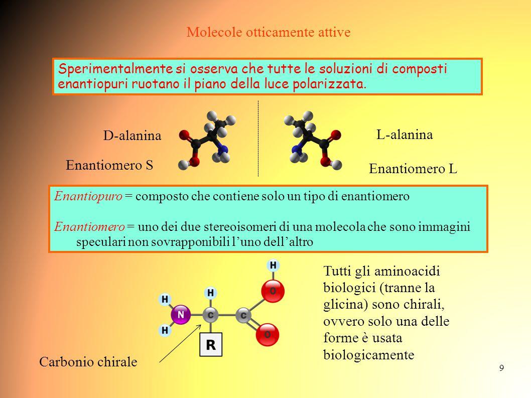 10 Gli Zuccheri * sono centri chirali enantiomeri Consideriamo un esempio