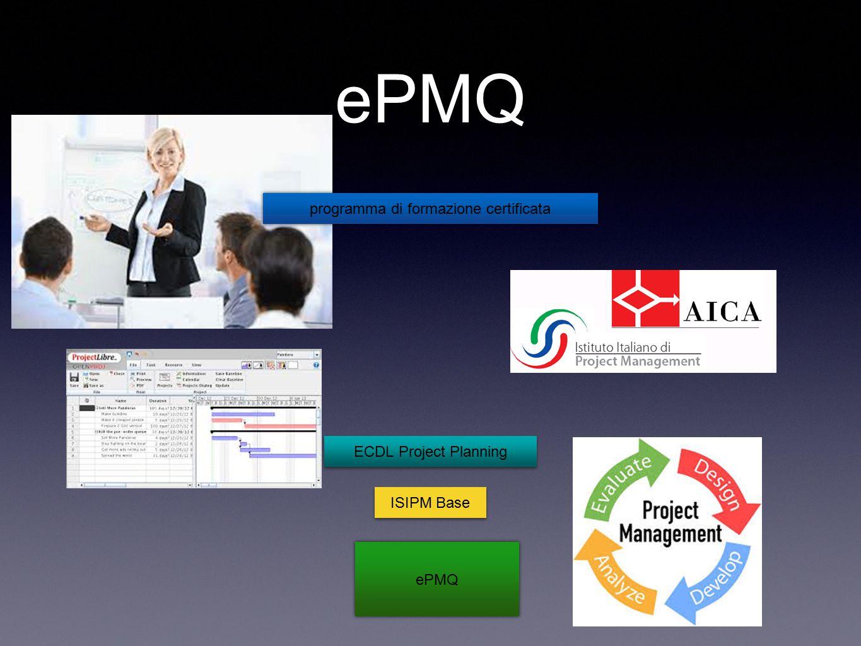 ePMQ programma di formazione certificata ECDL Project Planning ISIPM Base ePMQ