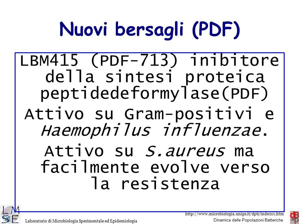 http://www.microbiologia.unige.it/dpb/indexxx.htm Dinamica delle Popolazioni Batteriche Laboratorio di Microbiologia Sperimentale ed Epidemiologia The resistance nodulation division protein RND