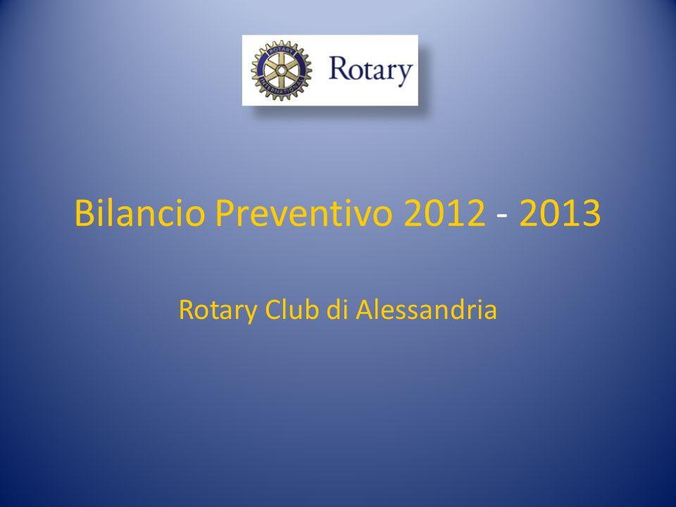 Bilancio Preventivo 2012 - 2013 Rotary Club di Alessandria