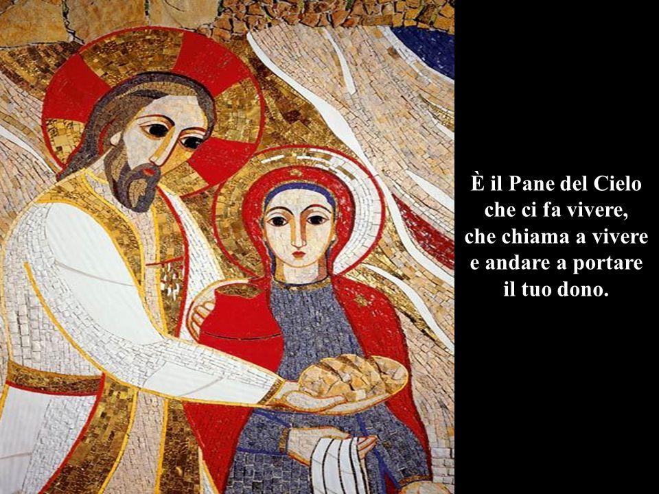 È il Pane del Cielo che ci fa vivere, che chiama a vivere e andare nel mondo.