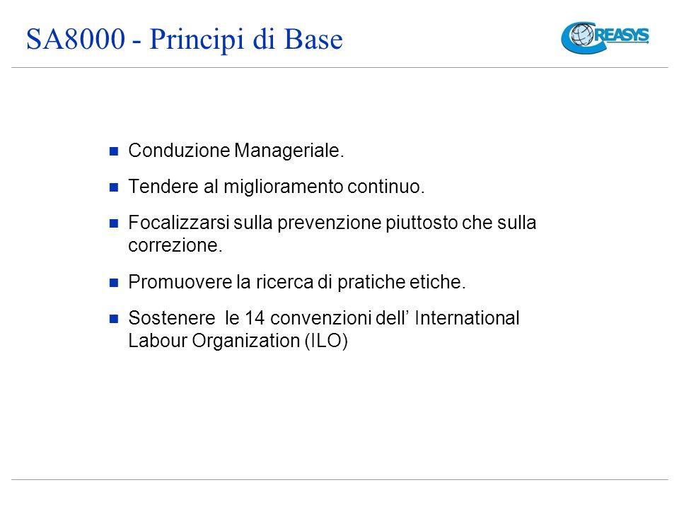 SA8000 - Principi di Base Conduzione Manageriale.Tendere al miglioramento continuo.
