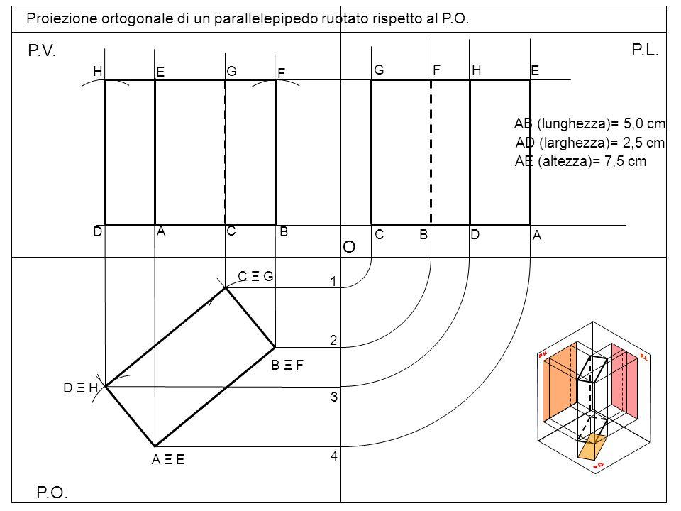 P.O.= Piano orizzontale P.V. = Piano verticale P.L.