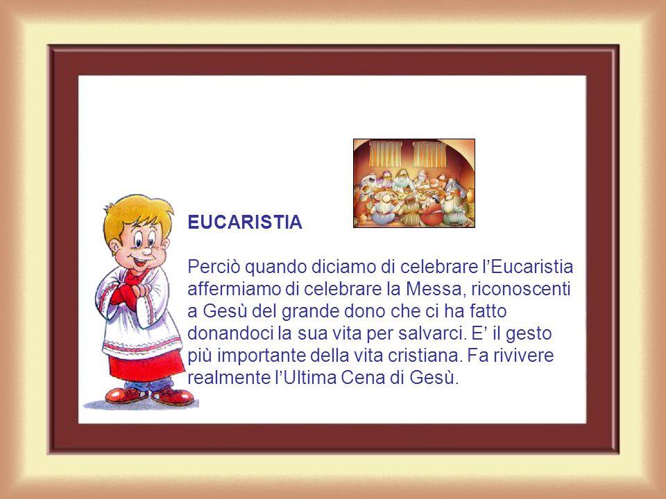 FRAZIONE DEL PANE Per indicare il Sacramento della Messa, istituito da Gesù durante l'Ultima Cena del Giovedì Santo, i primi Cristiani si servirono de