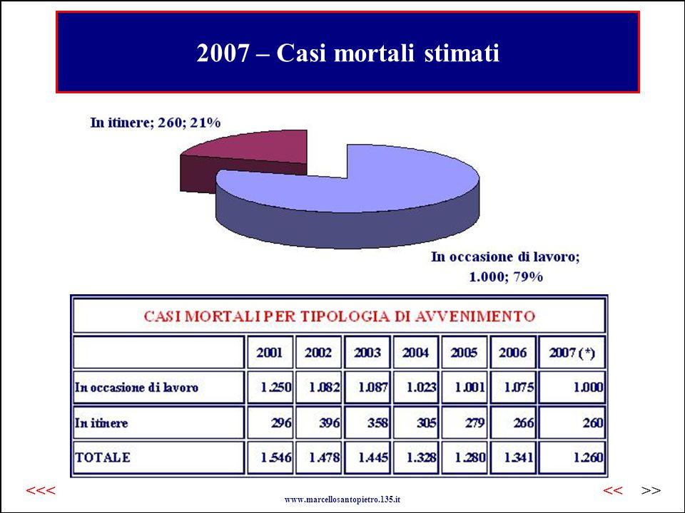 2007 – Casi mortali stimati www.marcellosantopietro.135.it >><<<<<