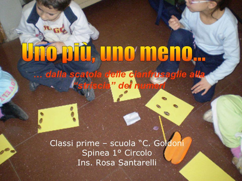 """… dalla scatola delle cianfrusaglie alla """"striscia"""" dei numeri Classi prime – scuola """"C. Goldoni Spinea 1° Circolo Ins. Rosa Santarelli"""