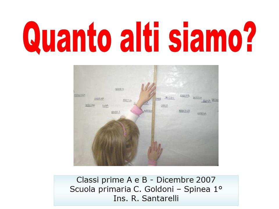Classi prime A e B - Dicembre 2007 Scuola primaria C. Goldoni – Spinea 1° Ins. R. Santarelli