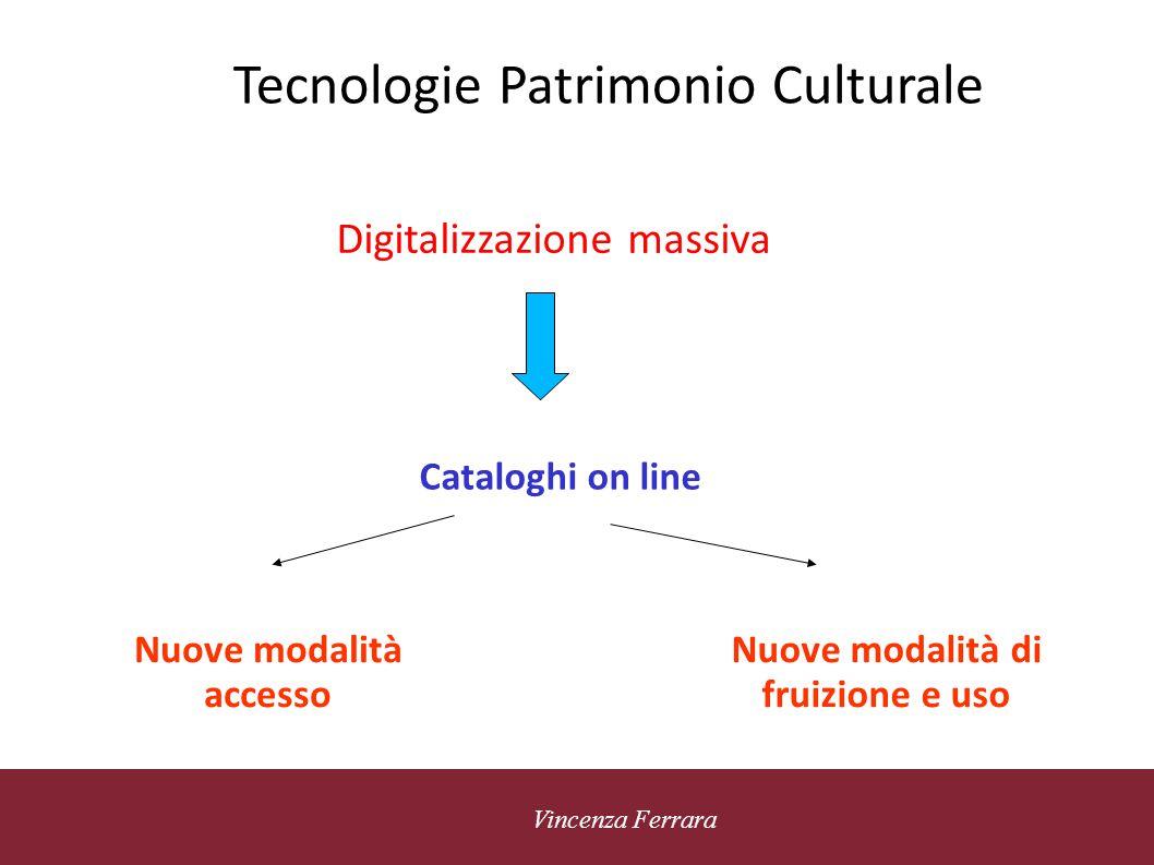 5 novembre 2010 Vincenza Ferrara Tecnologie Patrimonio Culturale Accesso personalizzato