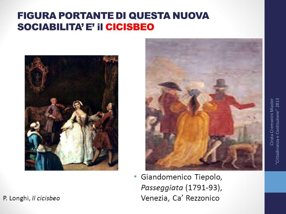 FIGURA PORTANTE DI QUESTA NUOVA SOCIABILITA' E' il CICISBEO Cinzia Cremonini Master