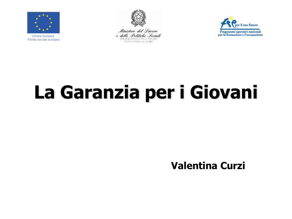 La Garanzia per i Giovani Valentina Curzi