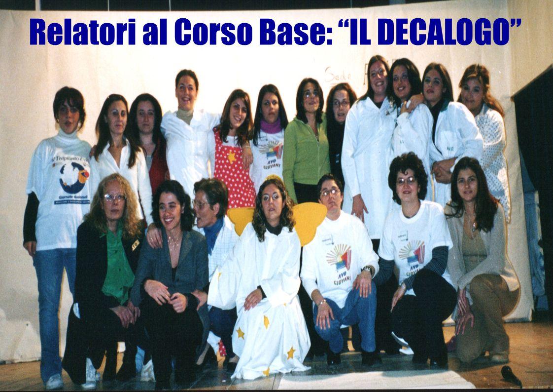 """Relatori al Corso Base: """"IL DECALOGO"""""""