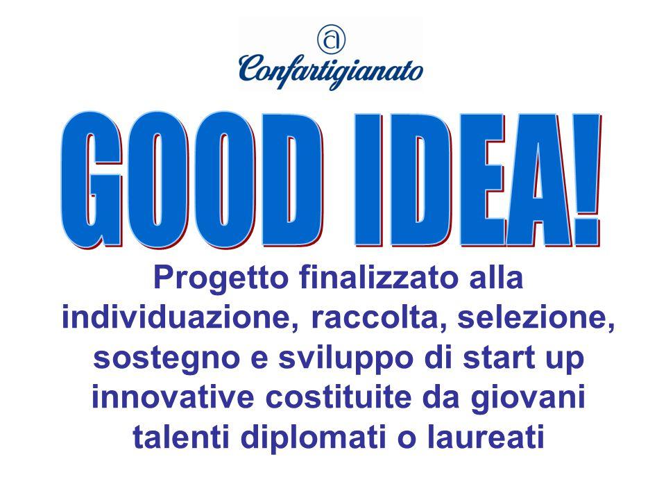 Progetto finalizzato alla individuazione, raccolta, selezione, sostegno e sviluppo di start up innovative costituite da giovani talenti diplomati o laureati