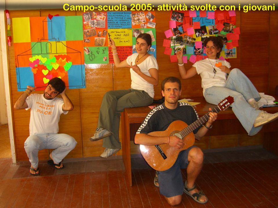 Campo-scuola 2005: attività svolte con i giovani
