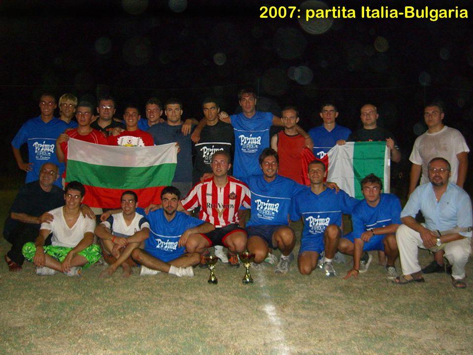 2007: partita Italia-Bulgaria