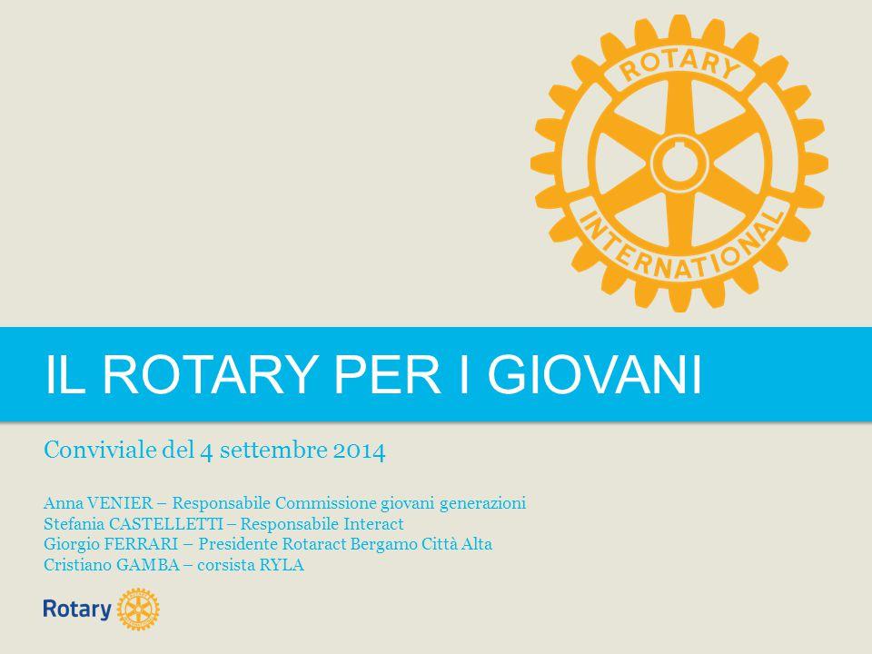 TITLE | 2 IL ROTARY PER I GIOVANI Con diversi programmi il Rotary International aiuta i giovani partecipanti a conoscere meglio se stessi e il mondo.