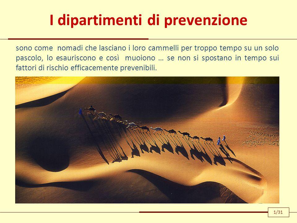 I dipartimenti di prevenzione sono come nomadi che lasciano i loro cammelli per troppo tempo su un solo pascolo, lo esauriscono e così muoiono … se no
