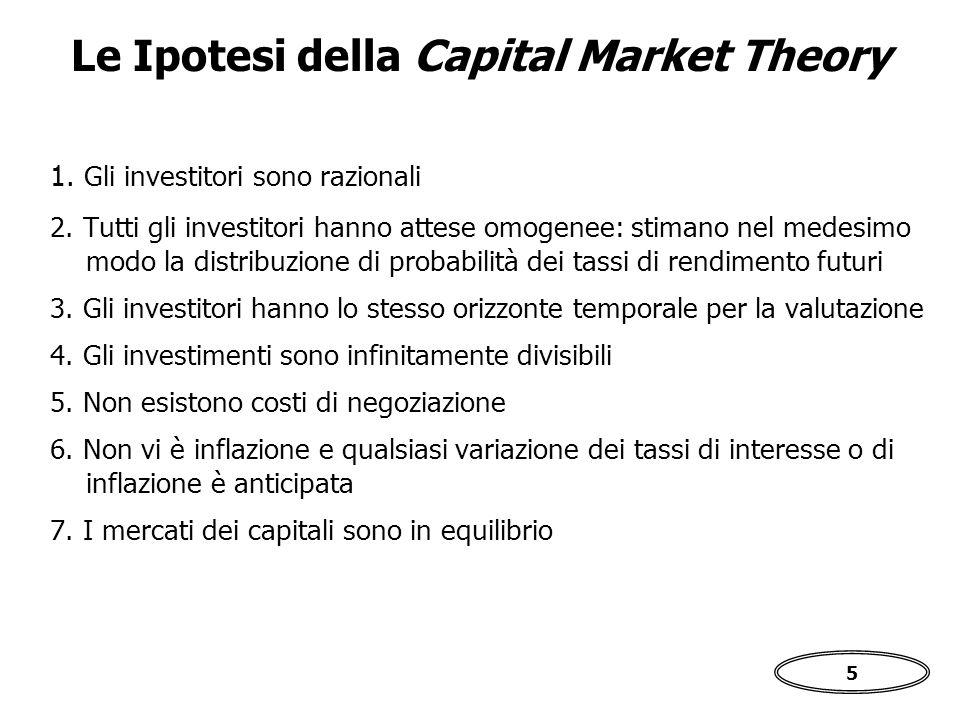 5 1.Gli investitori sono razionali 2.