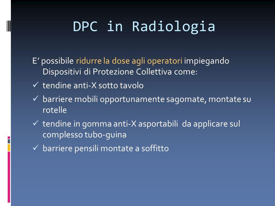 DPC in Radiologia E' possibile ridurre la dose agli operatori impiegando Dispositivi di Protezione Collettiva come: tendine anti-X sotto tavolo barrie