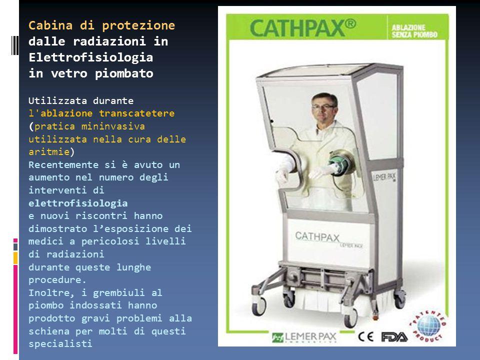 Cabina di protezione dalle radiazioni in Elettrofisiologia in vetro piombato Utilizzata durante l'ablazione transcatetere (pratica mininvasiva utilizz