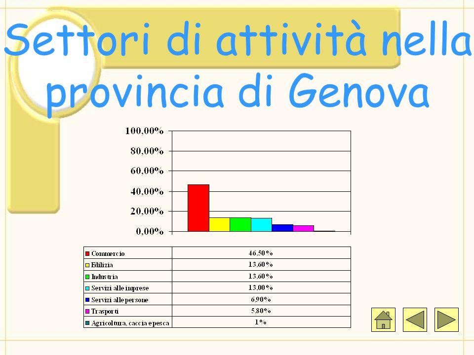 Settori di attività nella provincia di Genova