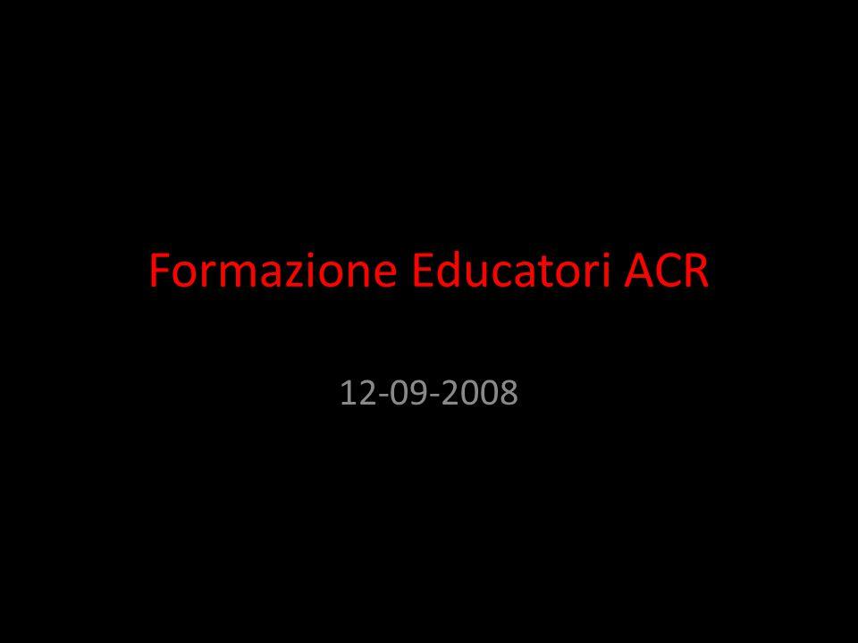 Struttura dell'incontro 1.Essere educatore significa e non… 2.L'educatore e...
