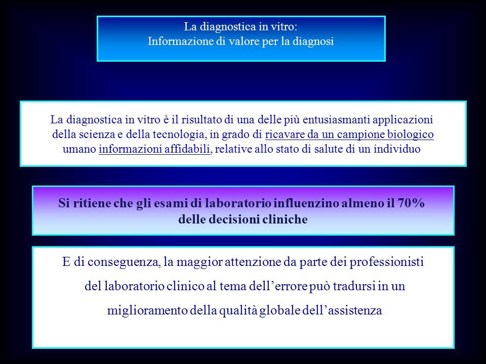 La diagnostica in vitro: Informazione di valore per la diagnosi La diagnostica in vitro è il risultato di una delle più entusiasmanti applicazioni del