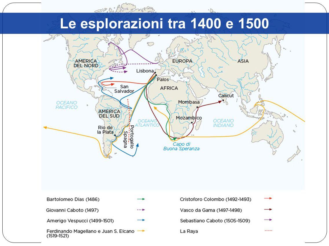Le esplorazioni tra 1400 e 1500
